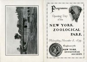 Covers of New York Zoological Park opening day program, 1899. WCS Archives Collection 2016.