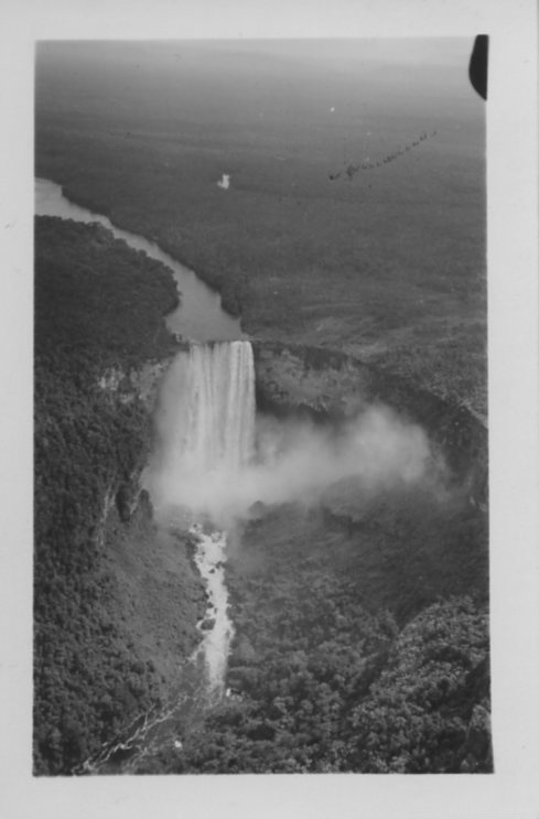 Kaieteur Fall from the air, 1936. Scanned from the WCS Archives Collection 1006