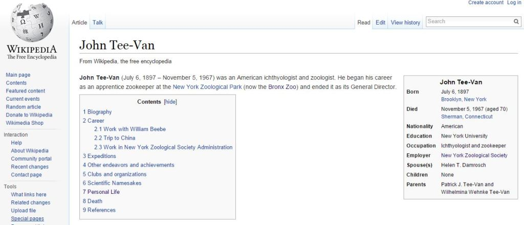 One of the new entries added to Wikipedia.