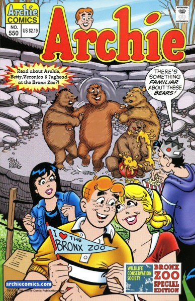 Cover of Archie Comic 550. © 2004 Archie Comic Publications