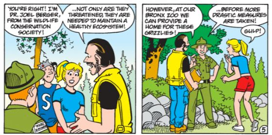 WCS's Joel Berger in Archie Comic 550. © Archie Comic Publications