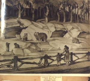 Concept illustration for Prospect Park Zoo's original bear den exhibit