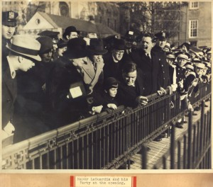 Mayor Fiorello La Guardia, his family, New York State Governor Alfred E. Smith, and their entourages were just a few of the faces in the crowd at the December 1934 Central Park Zoo reopening