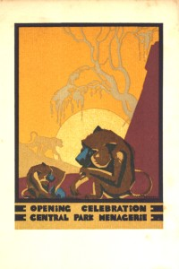 Cover of the invitation to Central Park Zoo's 1934 reopening celebration