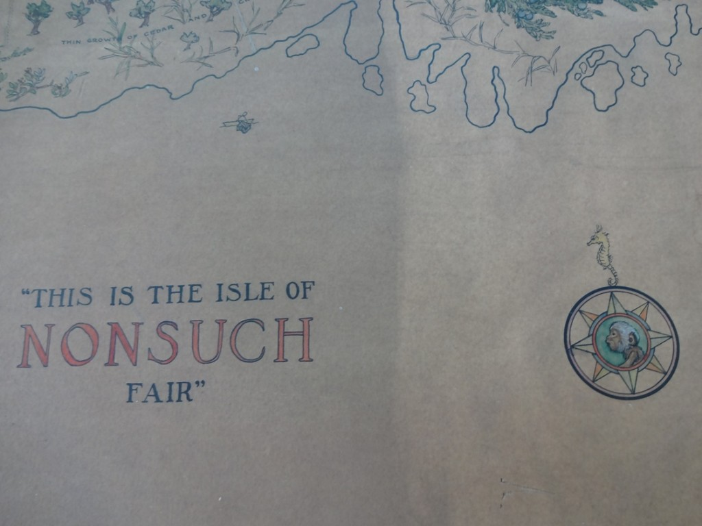 "Detail of Helen Tee-Van's illustration ""This is the Island of Nonsuch Fair"", during treatment by conservator Paula Schrynemakers"