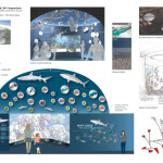 "Graphical renderings of the ""Ocean Wonders"" exhibit and features at the NY Aquarium. Image courtesy of Naomi Pearson, EGAD at WCS."