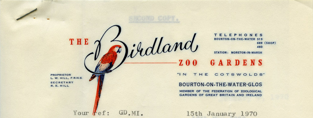 The Birdland Zoo Gardens [Bourton-on-the-Water, Great Britain] – 1970