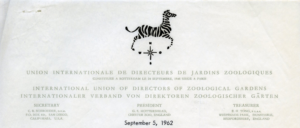 International Union of Directors of Zoological Gardens – 1962