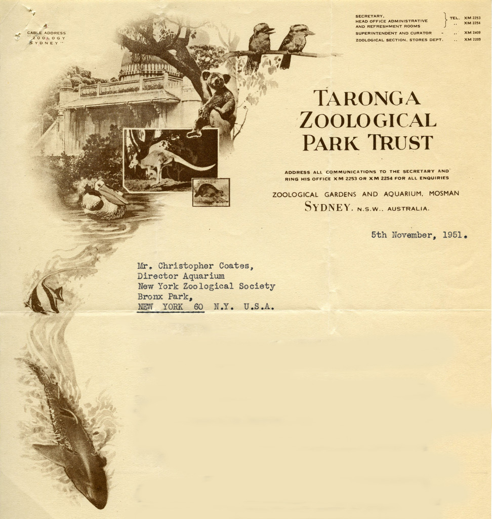 Taronga Zoological Park Trust [Sydney] – 1951