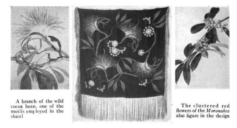 Taylor textile shown at the American Museum of Natural History. From the Museum's journal, Natural History, 1922