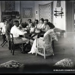 Theodore Roosevelt and his wife Edith were the first visitors to Kalacoon. Beebe is seated at the far end of the table, Mrs Roosevelt is seated nearest the camera and President Roosevelt is next to her. WCS Photo Collection