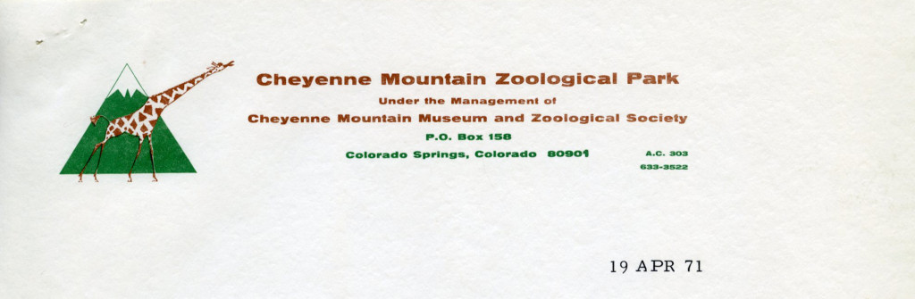 Cheyenne Mountain Zoological Park [Colorado Springs, CO], 1971