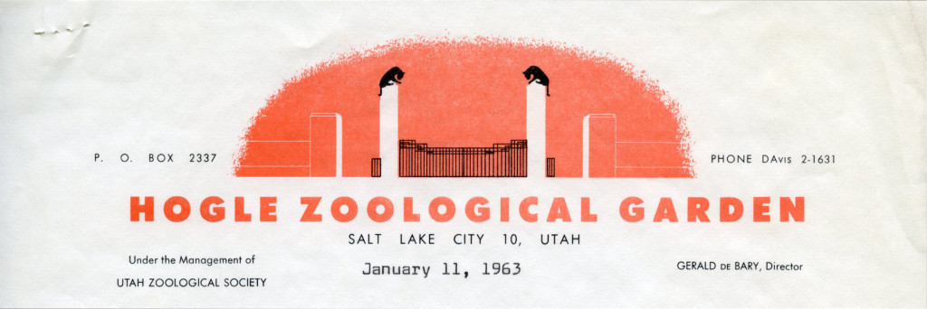 Hogle Zoological Garden [Salt Lake City, UT], 1963