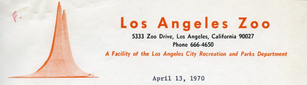Los Angeles Zoo, 1970