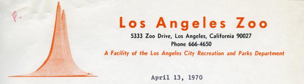 Los Angeles Zoo, 1970