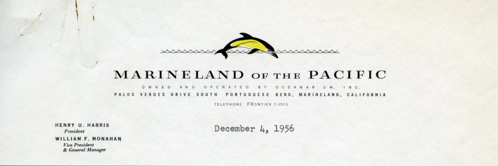 Marineland of the Pacific [Palos Verdes Peninsula, CA], 1956