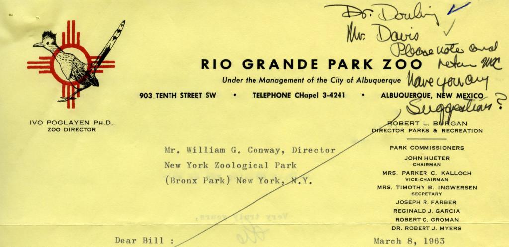 Rio Grande Park Zoo [Albuquerque, NM], 1963