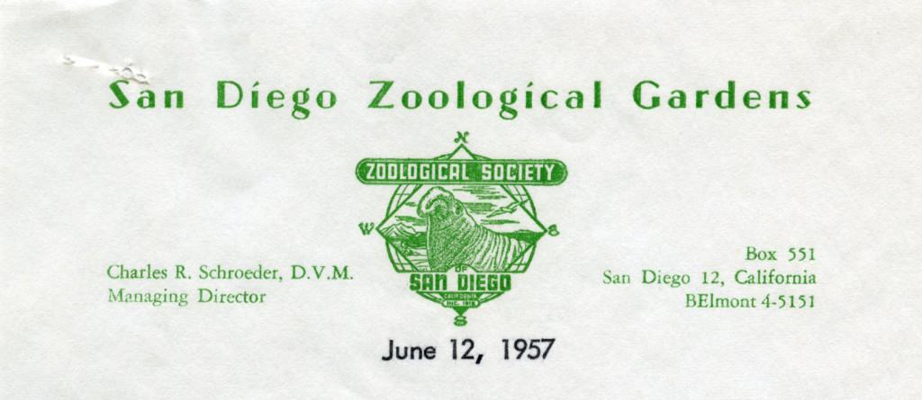 San Diego Zoological Gardens, 1957