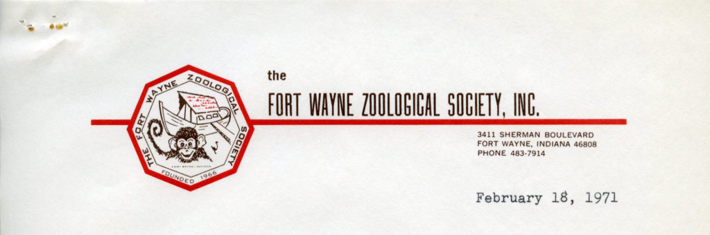 Fort Wayne Zoological Society, February 1971