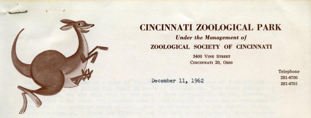 Cincinnati Zoological Park, December 11, 1962 - Kangaroo