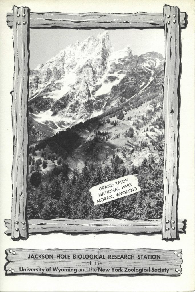Cover of Jackson Hole Biological Research Station brochure, 1960s. WCS Archives Collection 2016